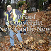 Courtney Caughey-Stambul/NEWS<br /> Doug Chappell removes a fallen tree branch from the park.