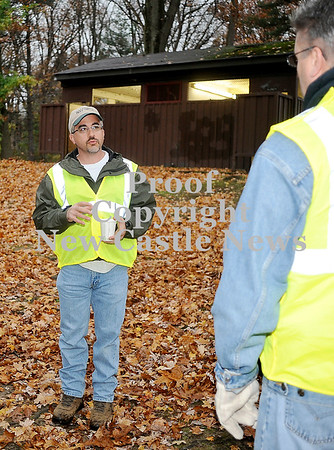 Courtney Caughey-Stambul/NEWS<br /> Jerry Zona, left, informs group members of the areas needing the most attention at Gaston Park.