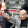 Scott R. Galvin / NEWS<br /> School board members George Gabriel, left, and Allan Joseph call for the removal of an unruly community member during the New Castle Area School District board meeting yesterday.