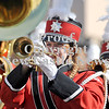 Courtney Caughey-Stambul/NEWS<br /> A student in the Mohawk Warrior Marching Band plays the trumpet.