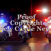 Courtney Caughey-Stambul/NEWS<br /> New Castle police officers lead last night's parade through downtown.