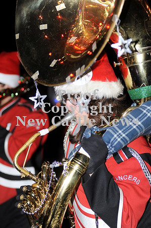 Courtney Caughey-Stambul/NEWS<br /> A student in the Neshannock Lancer Marching Band plays the tuba.