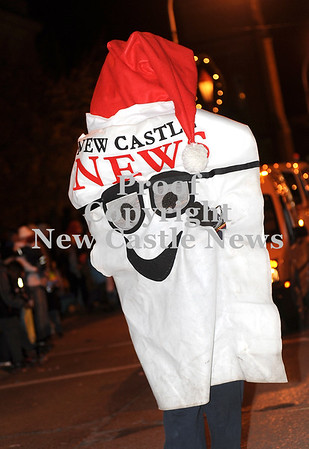Courtney Caughey-Stambul/NEWS<br /> The New Castle News' Read Daily walks in last night's parade.