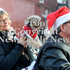 Courtney Caughey-Stambul/NEWS<br /> A small dog sports a pair of goggles for his ride by motorcycle in Saturday's parade.