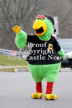 Courtney Caughey-Stambul/NEWS<br /> Pirate Parrot waves to parade-goers.