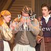 Erica Galvin/NEWS<br /> Cast members from left, Alena Kucan as Madame Thenardier, Michael Cannistraci as Thenardier and Matthew Barnes, who plays Jean Valijean rehearse a scene together during  Lincoln High School's fall musical, Les Miserables.