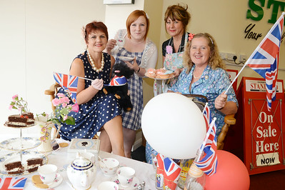 Staff at the Standard get ready to celebrate the Jubilee G120531-8a