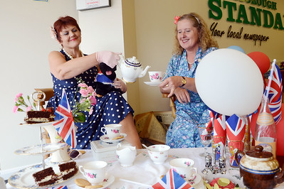 Staff at the Standard get ready to celebrate the Jubilee G120531-8b