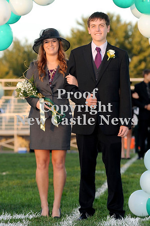 Courtney Caughey-Stambul/NEWS<br /> Laurel's Erica Latess is escorted by Cody Crawford.