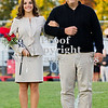 Scott R. Galvin / NEWS<br /> Mohawk High School homecoming court member Jenna Natale is escorted on the field by her father Anthony at the football game Friday.