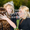 Scott R. Galvin / NEWS<br /> Mohawk High School homecoming queen Paige Crist, center, is congratulated by Casey Boyer, right, and fellow homecoming court members at the football game on Friday.