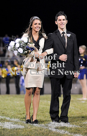 Courtney Caughey-Stambul/NEWS<br /> Shenango's Jenna Williams escorted by Nick Dombeck.