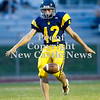 Scott R. Galvin / NEWS<br /> <br /> Shenango kicker Ronald Davis (42) punts the ball to Sto-Rox in the second quarter of Saturday's game.