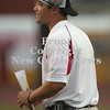 Erica Galvin/NEWS<br /> New Castle head coach Joe Cowart instructs his team from the sidelines during last Friday night's game.