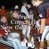 Erica Galvin/NEWS<br /> New Castle players from left, Nico DeJohn, Nik Berry and Richard Mariacher talk on the sidelines during its game last Friday.