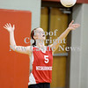 Courtney Caughey-Stambul/NEWS<br /> Jordan Wethli serves the ball for Neshannock.