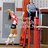Courtney Caughey-Stambul/NEWS<br /> Neshannock's Kaitlyn Burrelli spikes the ball against Laurel.