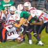 Erica Galvin/NEWS<br /> The New Castle defense tackles Brent Mulneix in the first half.