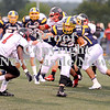 Courtney Caughey-Stambul/NEWS<br /> Jacob Sotter runs the football for Wilmington.