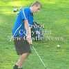 Erica Galvin/NEWS<br /> Ellwood City's Michael Rue hits the ball out of the rough.