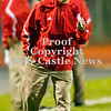 Scott R. Galvin / NEWS<br /> <br /> Neshannock coach Frank Bongivengo talks to a player during the first quarter against Shenango.