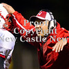 Scott R. Galvin / NEWS<br /> <br /> Neshannock head coach Fred Mozzocio congratulates Steve Senko (52) following the team's second quarter touchdown on Saturday against Shenango.
