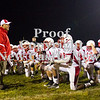 Scott R. Galvin / NEWS<br /> <br /> Neshannock head coach Fred Mozzocio talks to his players following the team's 49-6 victory over Shenango on Saturday.