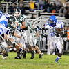 Courtney Caughey-Stambul/NEWS<br /> Union's John Clark runs back an interception for a touchdown against Laurel.