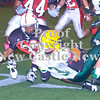 Erica Galvin/NEWS<br /> New Castle's Ryan Fitzpatrick tackle's Blackhawk running back Austin Javens in the second quarter.