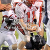 Courtney Caughey-Stambul/NEWS<br /> Neshannock's Gianni Oliva celebrates after recovering a Rochester fumble.