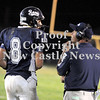 Courtney Caughey-Stambul/NEWS<br /> Rochester coach and Shenango High graduate Gene Matsook talks with quarterback Ben Richko.