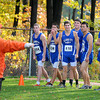 Courtney Caughey-Stambul/NEWS<br /> Members of Ellwood City's cross country team prepare for Saturday's start at Neshannock High School.