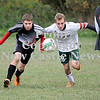 Courtney Caughey-Stambul/NEWS<br /> Mohawk's Brock Barber and Riverside's Logan Ridgley race for possession of the soccer ball.