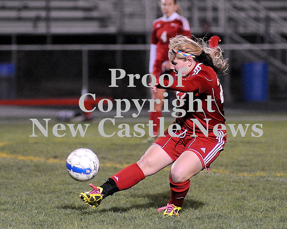 Courtney Caughey-Stambul/NEWS<br /> Neshannock's Kristen Friday advances the ball against Mohawk.