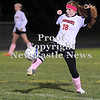 Courtney Caughey-Stambul/NEWS<br /> Mohawk senior Katelyn Byers kicks the soccer ball against Neshannock.