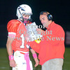 Erica Galvin/NEWS<br /> Mohawk head coach Joe Lamenza calls in a play to quarterback Gio Menichino.