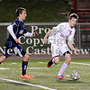 Courtney Caughey-Stambul/NEWS<br /> Neshannock's David Tice races for possession of the soccer ball.
