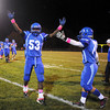 Courtney Caughey-Stambul/NEWS<br /> Union's Malik Williams and Darrin Haught, right, celebrate last night's win.