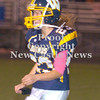 Erica Galvin/NEWS<br /> Kyler Lum runs off the field after making an extra point in the fourth quarter.
