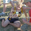 Erica Galvin/NEWS<br /> Dave Waldschmidt sits down and takes a break after finishing the race.