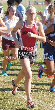 Erica Galvin/NEWS<br /> Mohawk's Breyona Wagner strides along the WPIAL Class A Cross Country  run.