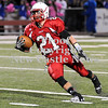 Courtney Caughey-Stambul/NEWS<br /> Neshannock senior John Conglose runs the football for the Lancers.