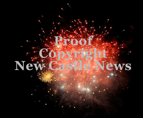 Courtney Caughey-Stambul/NEWS<br /> Fireworks are set-off over Neshannock High School following the Lancers' victory last night against Union.