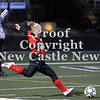 Courtney Caughey-Stambul/NEWS<br /> Corey Mitchell puts the ball in play for the Lady Warriors last night.