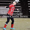 Courtney Caughey-Stambul/NEWS<br /> Mohawk senior Amber Dougherty advances the ball last night against Sewickley Academy.