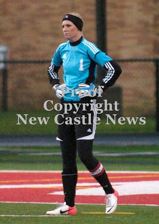 Erica Galvin/NEWS<br /> Senior goalkeeper Anna Miller reacts after Fairview scored their first goal in the first half.