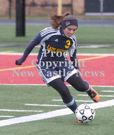 Erica Galvin/NEWS<br /> Bella Sturm clears the ball in the first half.