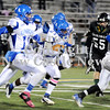 Courtney Caughey-Stambul/NEWS<br /> Union's Drew Robinson runs the football last night against Sto Rox.