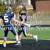 Courtney Caughey-Stambul/NEWS<br /> Wilmington's Cody Llewellyn, left, and Alex Patton celebrate a Greyhound touchdown.