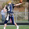 Courtney Caughey-Stambul/NEWS<br /> Wilmington quarterback Cody Llewellyn throws the football against Fairview.